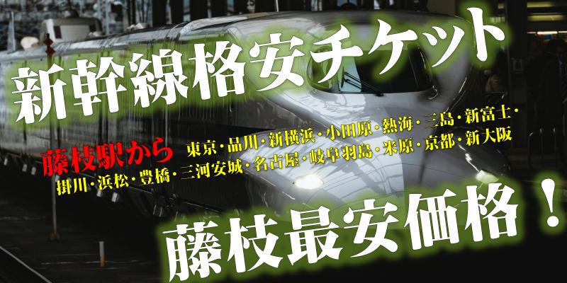 藤枝駅(静岡駅)から新幹線格安チケット | フリーチケット藤枝田沼店